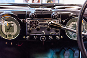 Milano , il collezionista di auto d'epoca Corrado Lopresto,  interno Alfa Romeo 6C 2500 SS  Pininfarina
