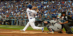 October 25, 2017 - Los Angeles, California, U.S. - Los Angeles Dodgers' Corey Seager during game two of a World Series baseball game against the Houston Astros at Dodger Stadium on Wednesday, Oct. 25, 2017 in Los Angeles. Houston Astros won 7-6 in 10 innings. (Photo by Keith Birmingham, Pasadena Star-News/SCNG) (Credit Image: © San Gabriel Valley Tribune via ZUMA Wire)