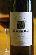 2003 Le Carignan Vin de Pays du Mont Baudile. Domaine d'Aupilhac. Montpeyroux. Languedoc. France. Europe. Bottle.