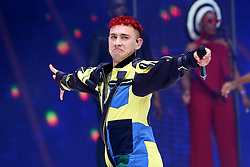 Olly Alexander of Years & Years on stage during Capital's Summertime Ball with Vodafone at Wembley Stadium, London.