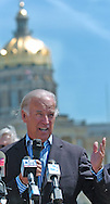8/16/06 Des Moines. IA Sen. Joseph Biden speaks at an anti Wal Mart event in Des Moines in front of the Iowa State Capitol  Wednesday afternoon. (Chris Machian/Prairie Pixel Group)