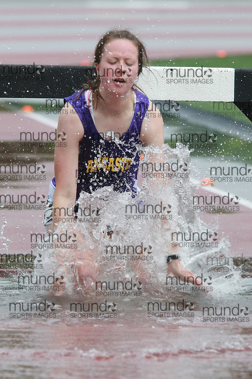 (London, Ontario}---03 June 2010) \\ the steeplchase at the 2010 OFSAA Ontario High School Track and Field Championships. Photograph copyright Dave Chidley / Mundo Sport Images, 2010.