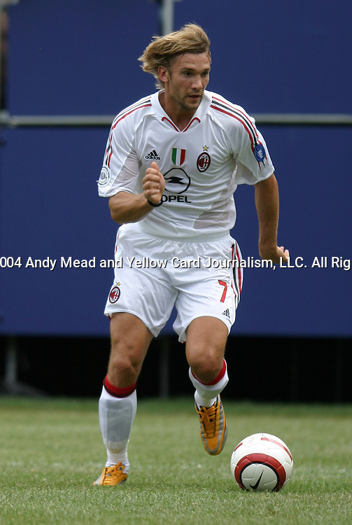 31 July 2004: Andriy Shevchenko. AC Milan of Italy's La Liga defeated Manchester United of the English Premier League 9-8 on penalties after the teams played to a 1-1 draw at Giants Stadium in the Meadowlands Complex in East Rutherford, NJ in a ChampionsWorld Series friendly match..