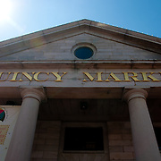 Quincy market building and sign, Boston, MA