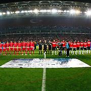 Turkey's and Austria's players during their UEFA EURO 2012 Qualifying round Group A soccer match Turkey betwen Austria at Sukru Saracoglu stadium in Istanbul March 29, 2011. Photo by TURKPIX