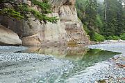 Outlet of Cullite Creek at Cullite Cove, West Coast Trail, British Columbia, Canada.