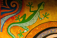 Mural, Cultural Center, island of Mare, Loyalty Islands, New Caledonia
