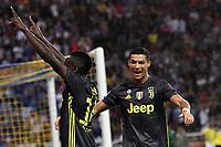 Esultanza Gol Blaise Matuidi Juventus 1-2 Goal celebration with Cristiano Ronaldo Juventus <br /> Parma 01-09-2018 Stadio Ennio Tardini Calcio Serie A 2018/2019 Parma - Juventus <br /> Foto Andrea Staccioli / Insidefoto