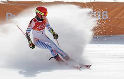 15.02.2018, Yongpyong Alpine Centre, Yongpyong, KOR, PyeongChang 2018, Ski Alpin, Damen, Riesenslalom, im Bild Mikaela Shiffrin (USA, 1. Platz) // gold medalist and Olympic champion Mikaela Shiffrin of the USA during the Ladies Alpine Giant Slalom Race of the Pyeongchang 2018 Winter Olympic Games at the Yongpyong Alpine Centre in Yongpyong, South Korea on 2018/02/15. EXPA Pictures © 2018, PhotoCredit: EXPA/ Johann Groder