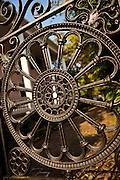 Decorative wrought iron gate in Charleston, SC.