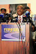 Rev. Al Sharpton  at The Rev. Al Sharpton and The National Action Network announcement of plans and strategies for political boycotts, demonstrations and civil disobedience in response to Sean Bell Not Guilty Verdict held at 1199 SEIU on April 29, 2008