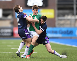 Ireland U18's v Scotland U18's<br /> Photographer Mike Jones/Replay Images<br /> <br /> Ireland U18s v Scotland U18s<br /> Six Nations, Sunday 8th April 2018, <br /> Cardiff Arms Park, Cardiff, <br /> <br /> World Copyright © Replay Images . All rights reserved. info@replayimages.co.uk - http://replayimages.co.uk