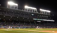 CHICAGO, IL - OCTOBER 22:  A general view of Wrigley Field during Game 6 of the NLCS between the Los Angeles Dodgers and the Chicago Cubs at Wrigley Field on Saturday, October 22, 2016 in Chicago, Illinois. (Photo by Ron Vesely/MLB Photos via Getty Images)