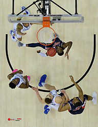 Mar 31, 2019; Kansas City, MO,  Auburn Tigers guard Jared Harper (1) shoots against the Kentucky Wildcats in the championship game of the midwest regional of the 2019 NCAA Tournament at Sprint Center. Mandatory Credit: Denny Medley-USA TODAY Sports