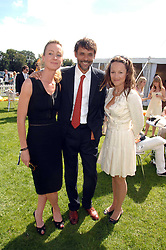 Left to right, LORIEN HAYNES, Actor ALEXANDER SIDDIG and jeweller TARA AGACE at the final of the Veuve Clicquot Gold Cup 2007 at Cowdray Park, West Sussex on 22nd July 2007.<br /><br />NON EXCLUSIVE - WORLD RIGHTS