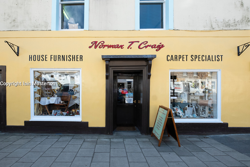 Old independent shop Norman T. Craig on High Street , Haddington, East Lothian, Scotland, UK