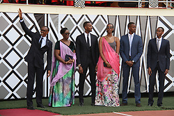 KIGALI, Aug. 18, 2017  Rwandan President Paul Kagame (1st L) greets people after his inauguration ceremony in Kigali, capital of Rwanda, on Aug. 18, 2017. Paul Kagame on Friday was sworn in as president of Rwanda for his third term in Kigali. (Credit Image: © Lyu Tianran/Xinhua via ZUMA Wire)