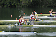 Lucerne, SWITZERLAND,NOR M1X Olaf TUFTE and BEL M1X Tim MAEYENS, move away from the start in his  Semi Final, Third round of the  2009 FISA World Cup,  Rotsee Regatta Course, Saturday  11/07/2009 [Mandatory Credit Peter Spurrier/ Intersport Images].