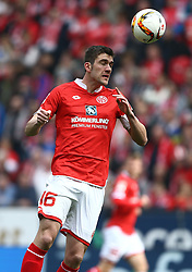 02.04.2016, Coface Arena, Mainz, GER, 1. FBL, 1. FSV Mainz 05 vs FC Augsburg, 28. Runde, im Bild Stefan Bell (FSV Mainz 05) koepft // during the German Bundesliga 28th round match between 1. FSV Mainz 05 and FC Augsburg at the Coface Arena in Mainz, Germany on 2016/04/02. EXPA Pictures © 2016, PhotoCredit: EXPA/ Eibner-Pressefoto/ Neis<br /> <br /> *****ATTENTION - OUT of GER*****