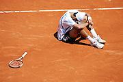 Roland Garros. Paris, France. June 7th 2006..Novak Djokovic against Rafael Nadal during the 1/4 finals.