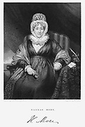 Hannah More (1745-1833) English religious writer, poet and playwright. Member of Blue Stocking Circle of learned intelligent women. Engraving after portrait by Pickersgill.