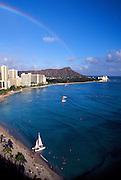 Waikiki with rainbow