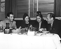1942 Robert Taylor, Barbara Stanwick, Alice Faye & Jack Benny at the Brown Derby