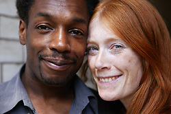 Portrait of multiracial couple,