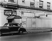 Ackroyd 01052-1 Mecca Club, SW Stark at 13th. October 15, 1948, Portland Oregon