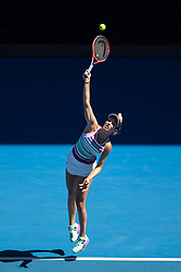 MELBOURNE, Jan. 20, 2019  Danielle Collins of the United States competes during women's singles 4th round match between Angelique Kerber of Germany and Danielle Collins of the United States at 2019 Australian Open in Melbourne, Australia, on Jan. 20, 2019. (Credit Image: © Elizabeth Xue Bai/Xinhua via ZUMA Wire)
