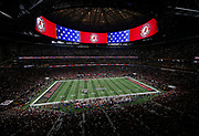 ATLANTA, GA - JANUARY 08:  General view of Mercedes-Benz Stadium during the College Football Playoff National Championship game between the Georgia Bulldogs and the Alabama Crimson Tide on January 8, 2018 in Atlanta, Georgia.  (Photo by Mike Zarrilli/Getty Images)