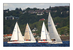 Yachting- The start of the Bell Lawrie Scottish series 2002 at Gourock racing overnight to Tarbert Loch Fyne where racing continues over the weekend.<br /><br />Tartan Revolution - Projection 920,  GBR9203R Class 3 leading the fleet at the start at Gourock<br /><br />Pics Marc Turner / PFM