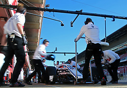 March 7, 2018 - Barcelona, Spain - the Alfa Romeo Sauber of Charles Leclerc during the Formula 1 tests at the Barcelona-Catalunya Circuit, on 07th March 2018 in Barcelona, Spain.  Photo: Joan Valls/Urbanandsport /NurPhoto. (Credit Image: © Joan Valls/NurPhoto via ZUMA Press)