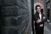 """Piero Mazzocchetti poses in the Xintiandi neighborhood in Shanghai on October 16, 2007. Xintiandi is a successful renovation of traditionnal Shanghaiese """"Shikumen"""" houses in bricks and stones that brought international brands and fancy restaurants in the neighborhood. Photo by Lucas Schifres/Pictobank +++ ITALY OUT +++"""