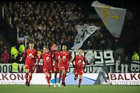 Fotball<br /> 28.10.2018<br /> Eliteserien<br /> Brann Stadion<br /> Brann - Rosenborg<br /> Christian Eggen Rismark (L) , Ruben Yttergård Jenssen (4R) , Gilbert Koomson (3R) , målscorer Deyver Vega (2R) og Taijo Teniste (R) , Brann jubler etter scoring<br /> Foto: Astrid M. Nordhaug