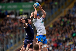 March 17, 2018 - Rome, Italy - Dean Budd of Italy during the NatWest 6 Nations Championship match between Italy and Scotland at Stadio Olimpico, Rome, Italy on 17 March 2018. (Credit Image: © Giuseppe Maffia/NurPhoto via ZUMA Press)