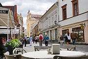 Lithuania, Vilnius old town street view