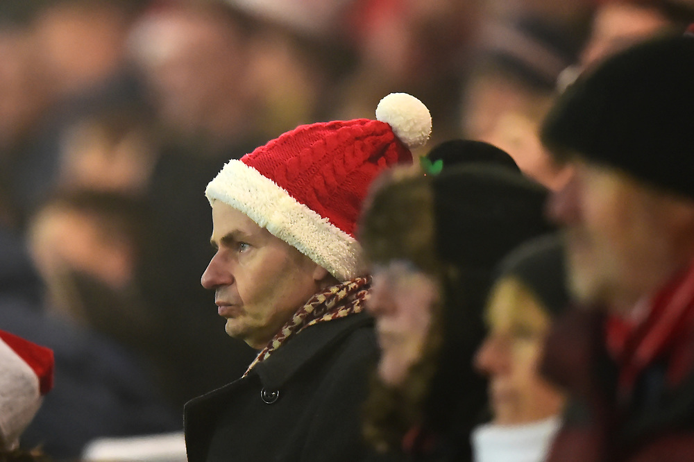 Fleetwood fans look on<br /> <br /> Photographer Richard Martin-Roberts/CameraSport<br /> <br /> The EFL Sky Bet League One - Fleetwood Town v Gillingham - Friday 22nd December 2017 - Highbury Stadium - Fleetwood<br /> <br /> World Copyright © 2017 CameraSport. All rights reserved. 43 Linden Ave. Countesthorpe. Leicester. England. LE8 5PG - Tel: +44 (0) 116 277 4147 - admin@camerasport.com - www.camerasport.com