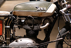"""""""The Manipulated"""", a custom BSA A65 cafe racer built by J Shia and Mike Ulman of Madhouse Motors in Boston at the Handbuilt Show. Austin, TX. USA. Saturday April 21, 2018. Photography ©2018 Michael Lichter."""