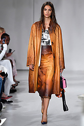 Model Camille Hurel walks on the runway during the Calvin Klein Fashion show at New York Fashion Week Spring Summer 2018 held in New York, NY on September 7, 2017. (Photo by Jonas Gustavsson/Sipa USA)