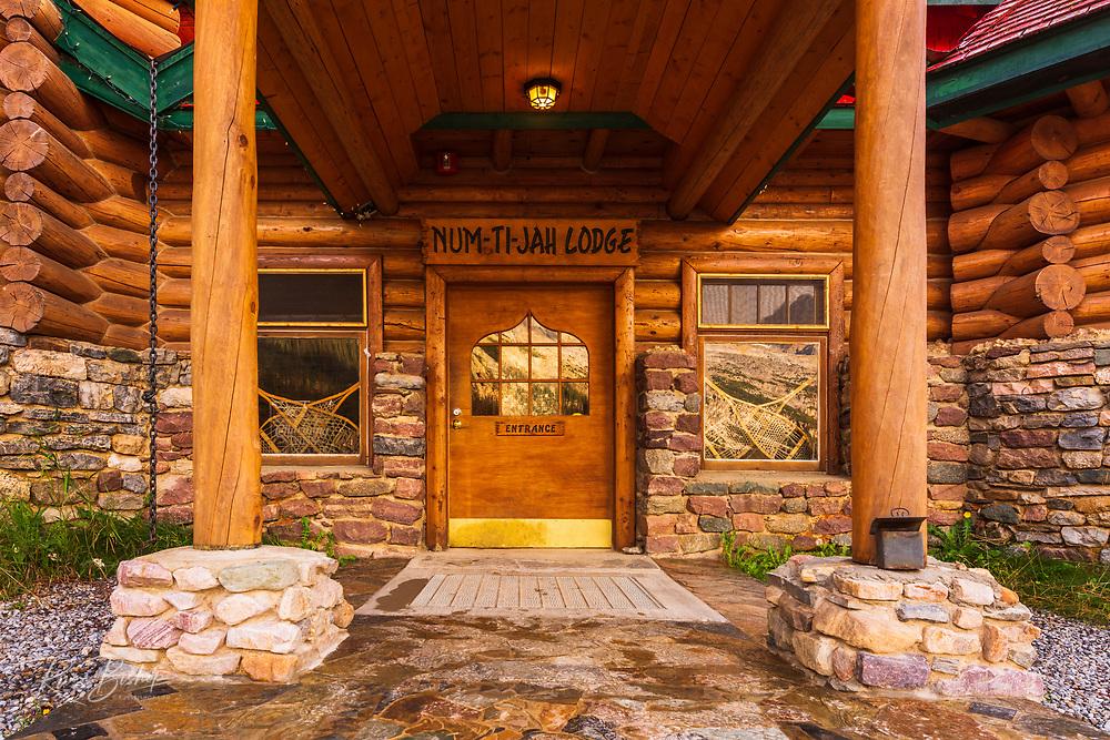 The Num-Ti-Jah Lodge at Bow Lake, Banff National Park, Alberta, Canada