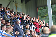 Rochdale supporters react to the red card during the EFL Sky Bet League 1 match between Rochdale and Gillingham at Spotland, Rochdale, England on 23 September 2017. Photo by Daniel Youngs.