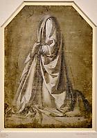 Royaume Uni, Londres, The British Museum, Leonard de Vinci, Draperie Richardson, Figure agenouillée // United Kingdom, London, The British Museum, Leonardo da Vinci, Richardson Drapery, Kneeling Figure