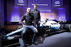 Unveiling of the new livery FW42 with drivers George Russell (left) and Robert Kubica during the Williams 2019 livery launch at Williams Conference Centre, Grove.