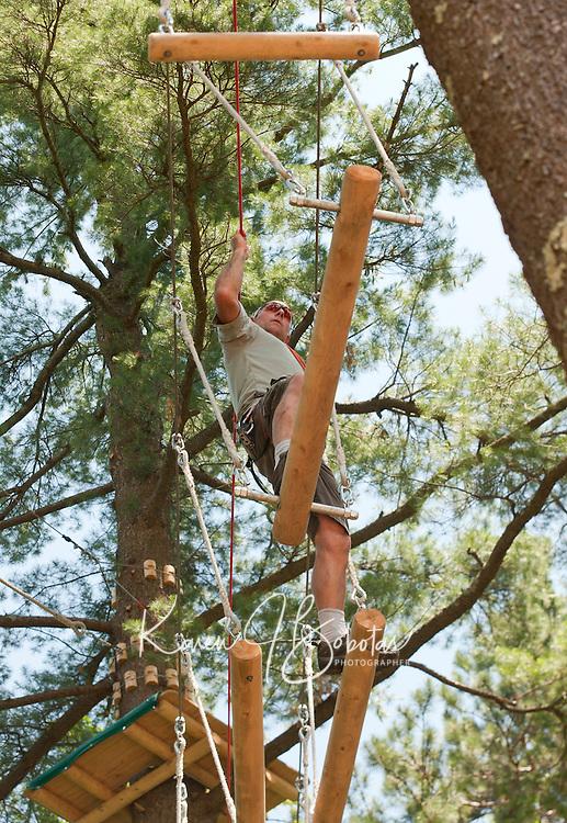 (Karen Bobotas/for the Laconia Daily Sun)Gunstock Mountain Resort Treetop Adventure Rope Course Gilford, NH