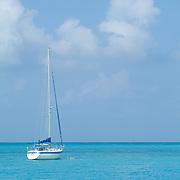 Sailboat anchor in Caribbean. Cancun, Q.Roo. Mexico