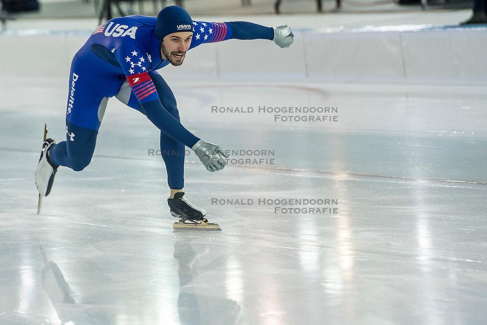 10-12-2016 NED: ISU World Cup Speed Skating, Heerenveen<br /> Team sprint USA Mitchell Whitmore