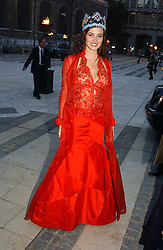 Miss World 2004 MISS MARIE JULIA MANTILLA GARCIA from Peru at a tribute to Luciano Pavarotti in aid of the British Red Cross held at The Guildhall, City of London on 6th June 2005<br />NON EXCLUSIVE - WORLD RIGHTS