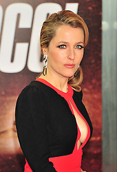 © Licensed to London News Pictures. 13/12/2011. London, England.Gillian Anderson attends the UK premiere of Mission Impossible - Ghost Protocol at the IMAX in London .  Photo credit : ALAN ROXBOROUGH/LNP