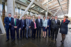 Jackson Carlaw unveiled his new shadow Cabinet outside the Scottish parliament, Edinburgh: Left to right: Miles Briggs, Donald Cameron, Graham Simpson, Murdo Fraser, Jamie Greene, Annie Wells, Liam Kerr, Jackson Carlaw, Liz Smith, Adam Tomkins, Maurice Golden, Dean Lockhart, Rachel Hamilton. Pic: Terry Murden @edinburghelitemedia